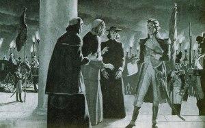 General Berthier lleva cautivo al papa Pío VI