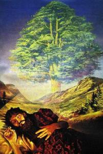 El sueño de Nabucodonsor en el capítulo 4.