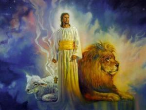 Jesucristo con vestiduras sacerdotales