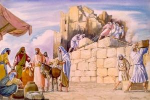 El  pueblo de Israel trabaja en la restauración del Templo.