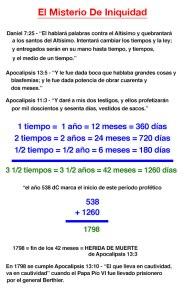 3 1/2 tiempos = 42 meses = 1260 días