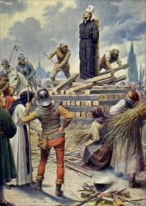 El papado manda a Jan Hus a la hoguera