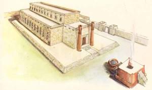 El segundo santuario terrenal - el Templo construido por el rey Salomón.